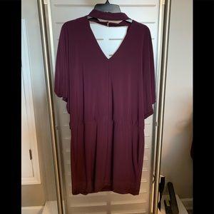 Whitehouse Blackmarket Burgundy Knit Dress